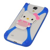 etui bumper 3D Hello Kitty niebieska do SONY Xperia J