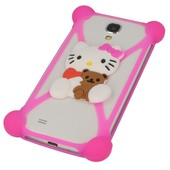etui bumper 3D Hello Kitty z misiem r�owa do SONY Xperia J
