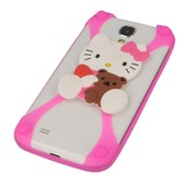 etui bumper 3D Hello Kitty z misiem r�owa do SAMSUNG GT-i9300 Galaxy S III