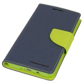 etui Fancy Diary Mercury granatowo-limonkowe do SAMSUNG Galaxy Grand Prime