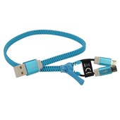 2w1 2x micro USB zipper niebieski do LG Swift L7 II