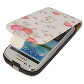 z klapk� na magnes Prestige slim Flowers bia�y do SAMSUNG Galaxy S III mini VE