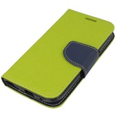 etui Fancy Case limonkowo-granatowy do SAMSUNG GT-i9300 Galaxy S III