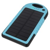 solarna 5000mAh Power Bank z latark� niebieska do SONY Xperia J