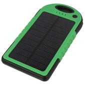 solarna 5000mAh Power Bank z latark� zielona do SAMSUNG GT-i9300 Galaxy S III