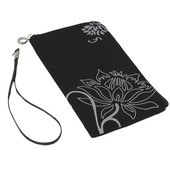 etui na suwak flower czarny do SAMSUNG GT-S8600 Wave 3