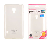 etui silikonowe Mercury JELLY CASE bia�e do LG Swift L7 II