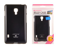 etui silikonowe Mercury JELLY CASE czarne do LG Swift L7 II