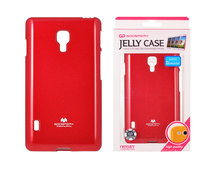 etui silikonowe Mercury JELLY CASE czerwone do LG Swift L7 II