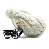 Nauszniki iGlove Hear Muffs Knit kremowe do SONY Xperia J