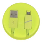Box Ring 1m microUSB limonkowy