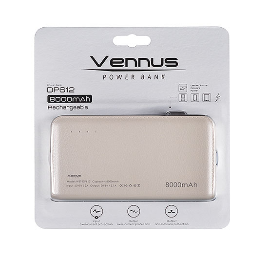 Power bank  Vennus DP612 8000mAh biały SAMSUNG Galaxy S8