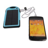 Power bank solarny Setty 5000mAh niebieski ZTE Blade L110 / 4