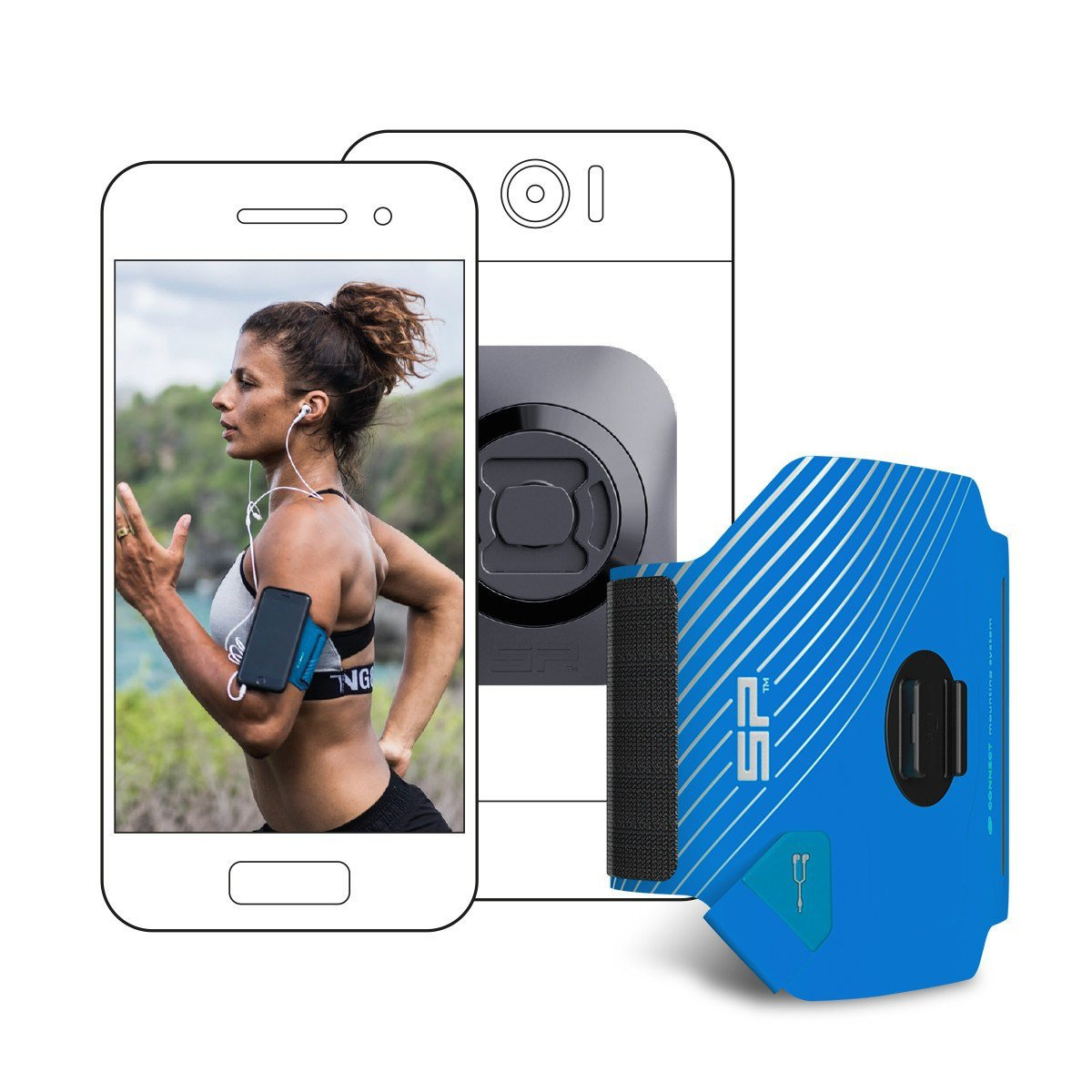 Pokrowiec SP Connect Etui Fitness Bundle Uniwersal SONY Xperia J